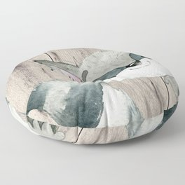 Woodland Friends - Little Racoon In Forest Floor Pillow
