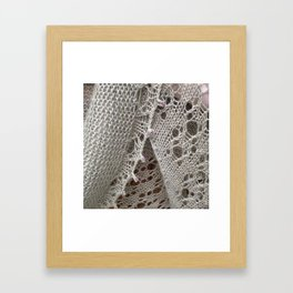 Bougainville lace Framed Art Print