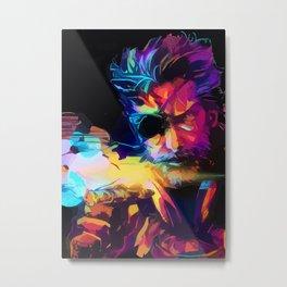 Neon BigBoss-MGS Metal Print