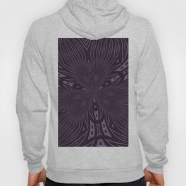 Pale Aubergine and Eggplant Abstract Pattern Kaleidescope Hoody