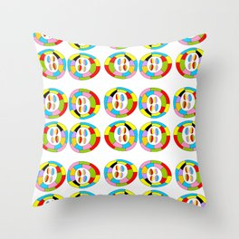Multicolor circles II-abstraction,abstract,geometric,geometrical,pattern,circle,sphere Throw Pillow