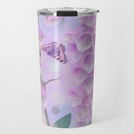 Pastel painterly foxgloves Travel Mug