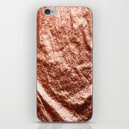 Rose gold draped foil iPhone Skin