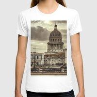 cuba T-shirts featuring CUBA - CAPITOLIO by mayavisual