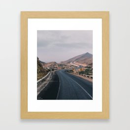 Way to the hills Framed Art Print