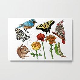 Nature Tattoo Flash Metal Print