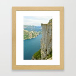 Pulpit Rock, Norway Framed Art Print