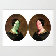The Vitruvian Sisters (collage) Art Print