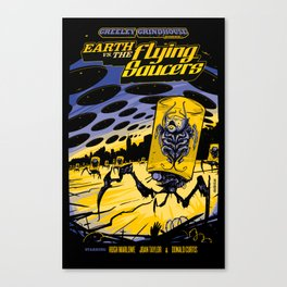 Earth vs. the Flying Saucers Canvas Print