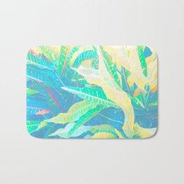 Tropical Croton Leaves 3 Bath Mat