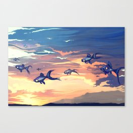 Sky Fishes Canvas Print