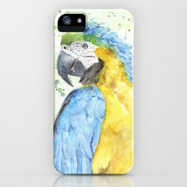 "Watercolor Painting of Picture ""Macaw"" iPhone Case"