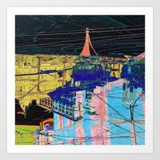toronto collage - night Art Print