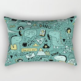 Communication Dinosaurs Rectangular Pillow