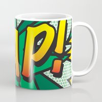 comic book Mugs featuring Comic Book ZAP! by Thisisnotme