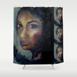 Courage by Lu Shower Curtain