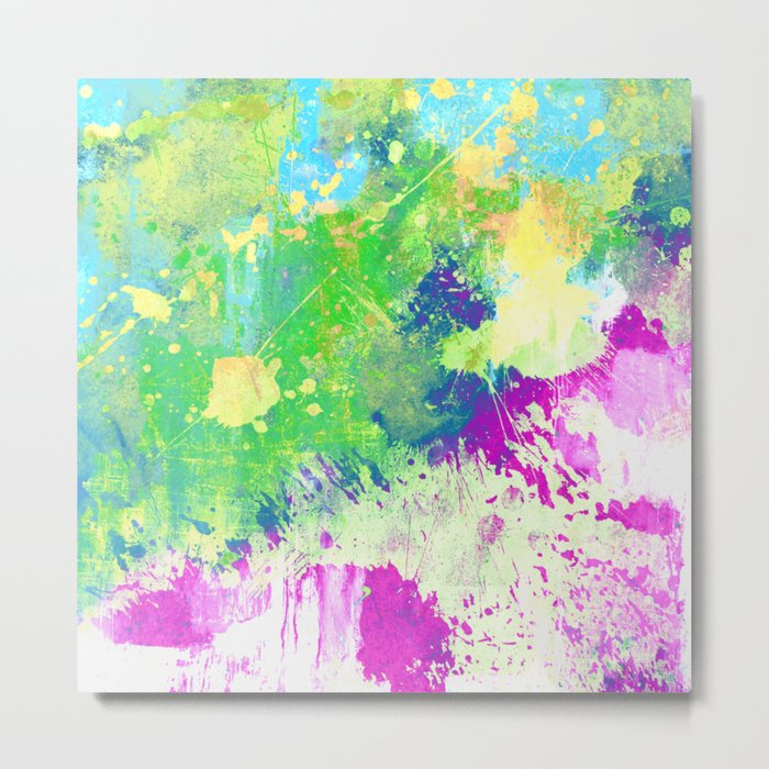 Love Colour (Abstract, colourful painting) Metal Print