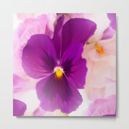 Flower Bouquet in Purple and Pink Colors  #decor #society6 #buyart Metal Print