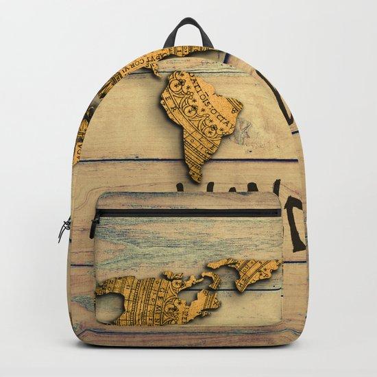 Wanderlust Vintage Map Backpack