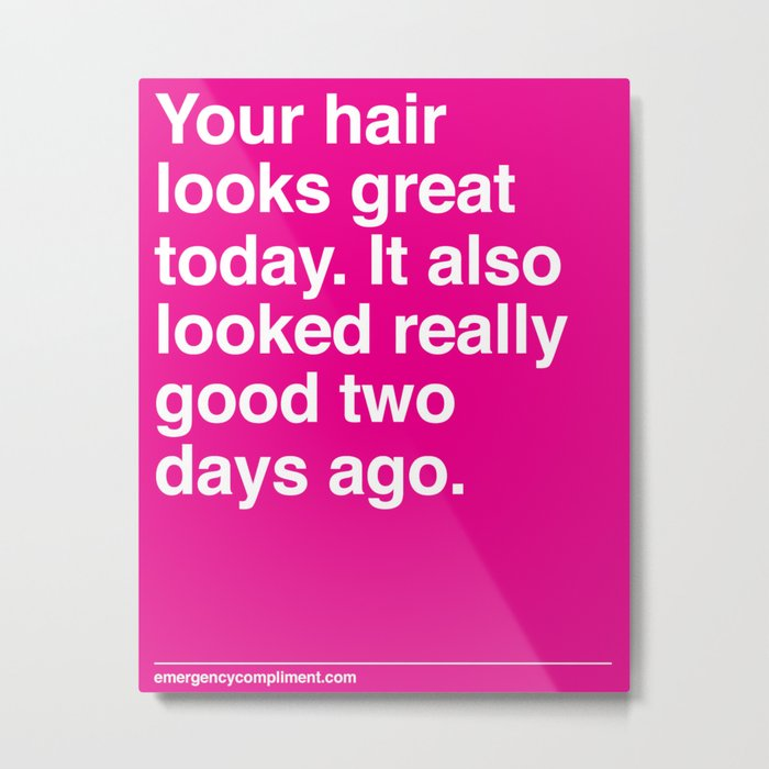 Your Hair Metal Print
