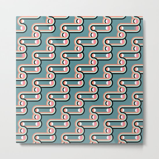 UNCHAINED PATTERN (abstract geometric) Metal Print