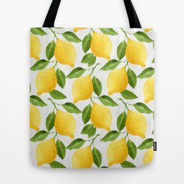 Watercolor Lemons Tote Bag