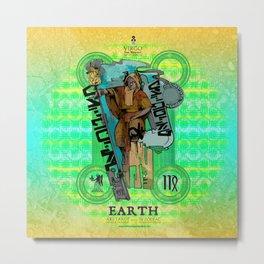"Ars Tarot of the 12 Zodiac: ""Virgo - The Hermit"" Metal Print"