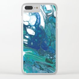 Blue Wisp Clear iPhone Case