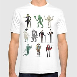 horror movies monsters T-shirt