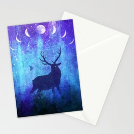 Moon Phase Deer // Phantom of Peaceful Nights Stationery Cards