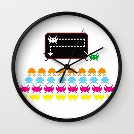 Alien Briefing Wall Clock