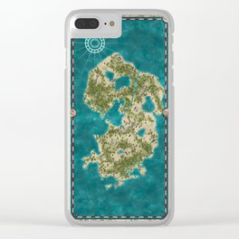Pirate Adventure Map Clear iPhone Case