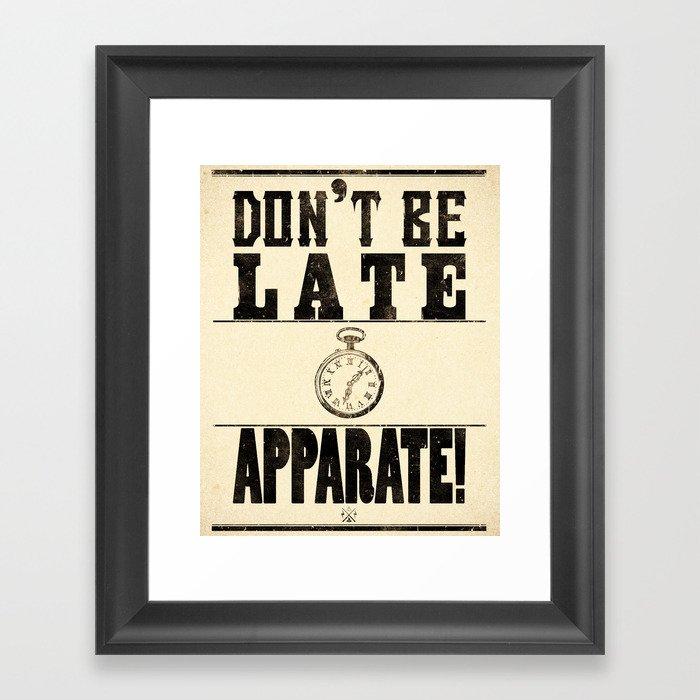 Apparate! Framed Art Print