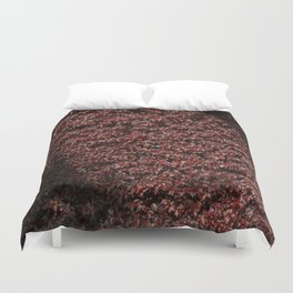 Autumn's red hedge Duvet Cover