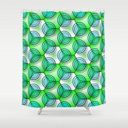 Circles & Hexagons Shower Curtain
