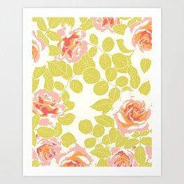 rose garden pink Art Print