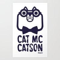 Cat Mc Catson Art Print