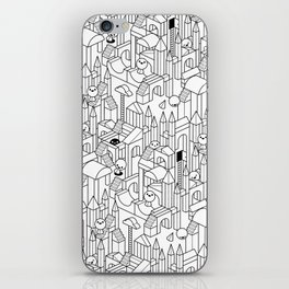 Little Escher's Building Blocks iPhone Skin