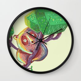 Lil Loris into the Wild Wall Clock