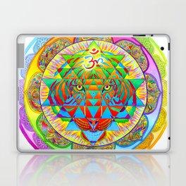 Inner Strength Psychedelic Tiger Sri Yantra Mandala Laptop & iPad Skin
