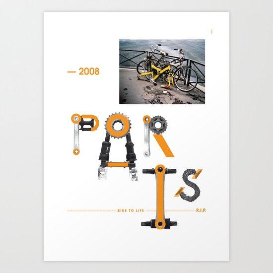 Bike to Life - Paris Art Print