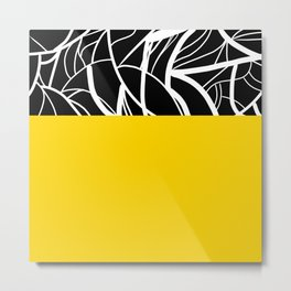 Yellow Zebra Metal Print