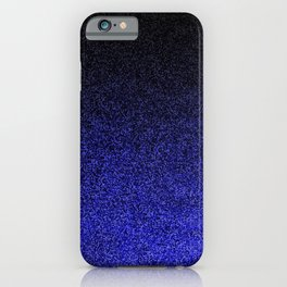 Blue & Black Glitter Gradient iPhone Case