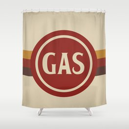 Retro Gas Station Shower Curtain