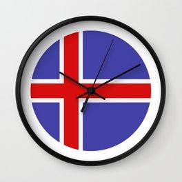 Icelandic flag Wall Clock