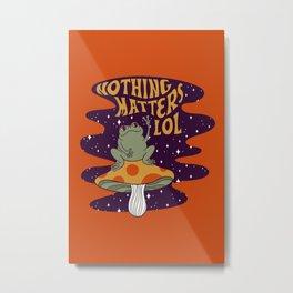 Nothing Matters Frog Metal Print