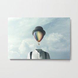 Balloon Fly Metal Print