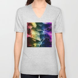 Leaves In Rainbow Colors Unisex V-Neck