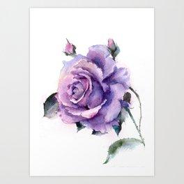 Purple Rose Art Print