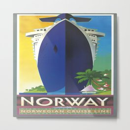 Vintage poster - Norway Metal Print